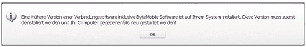 ByteMobile Software deinstallieren