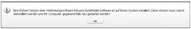 ByteMobile Software deinstallieren