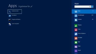 Windows 8 und die verbesserte Suchfunktion