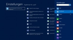 Windows 8 Einstellungen