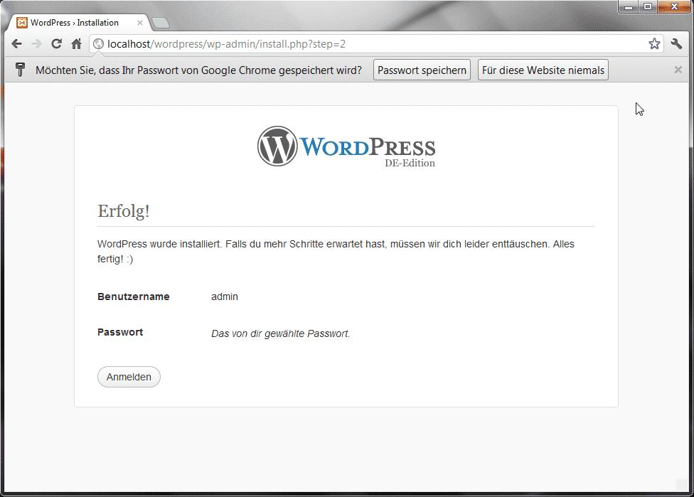 WordPress Erfolg