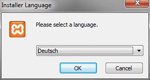 Xampp Installer Sprache