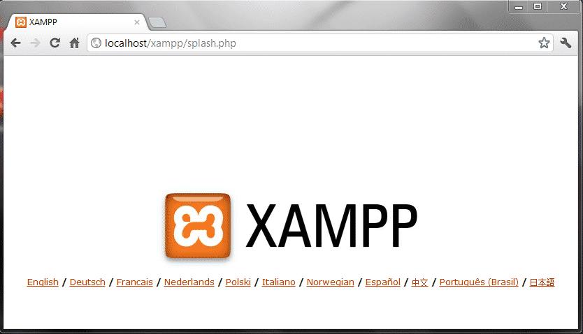 Xampp lokale URL gestartet