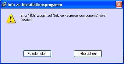Error 1606