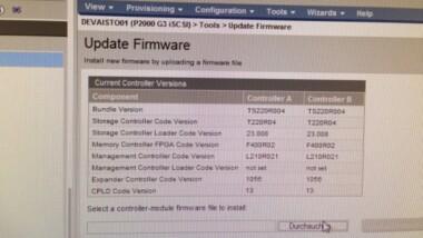 Firmware Update HP P2000 G3 iSCSI Storage