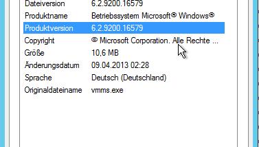 Hyper-V Version (Build) feststellen