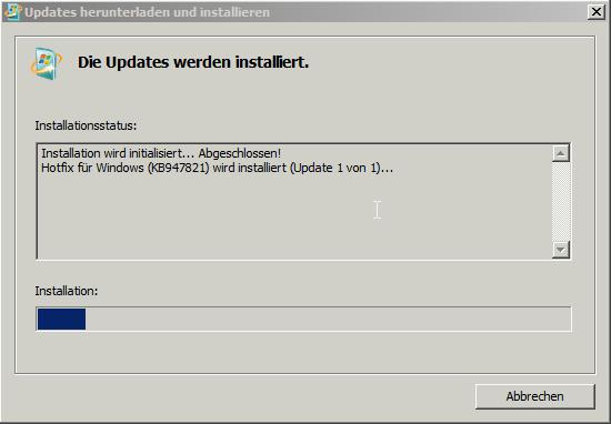 Systemupdate Vorbereitungstool KB947821