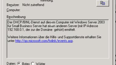 DHCP Server Dienst lässt sich nicht mehr starten