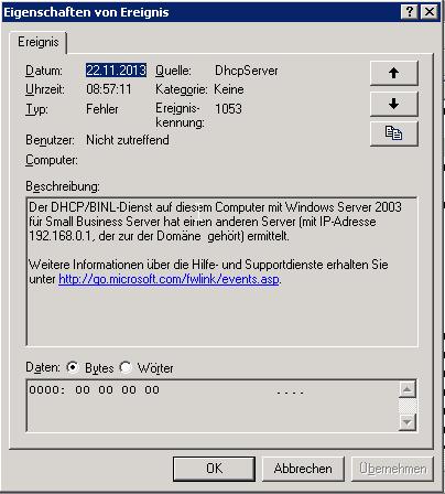 DHCP Server Dienst
