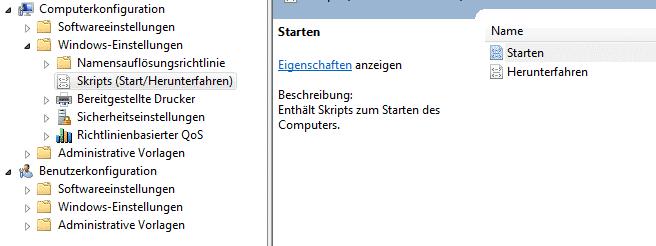 Gruppenrichtlinie Startscript