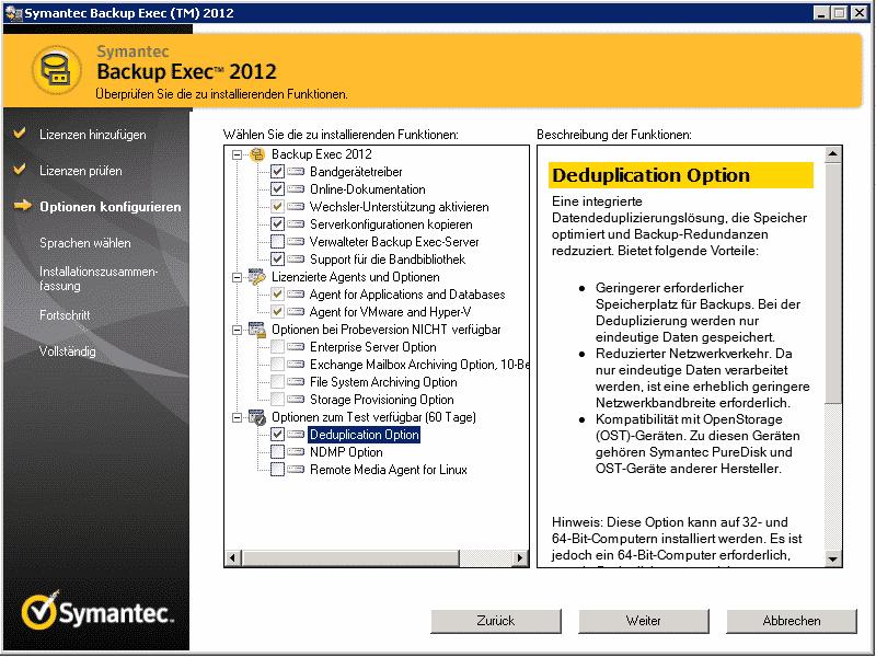 Symantec Backup Exec 2014 Deduplication Option