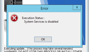 "PowerEdge R720 Bios Update Fehler ""System Services is disabled"""