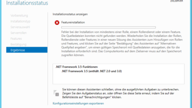 0x800F0906 Fehler .Net Framework 3.5 Installation unter Windows Server 2012 R2