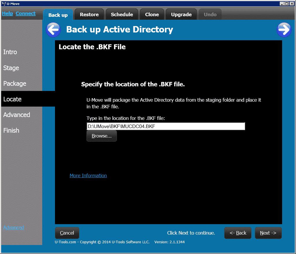 UMove Backup BK fileF
