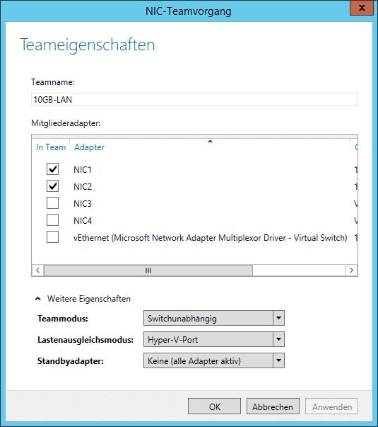 Windows Teaming