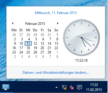 Alte Windows Uhr