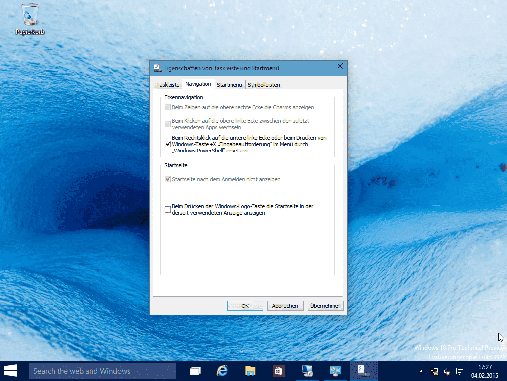 Windows 10 Eingabeaufforderung Eigenschaft