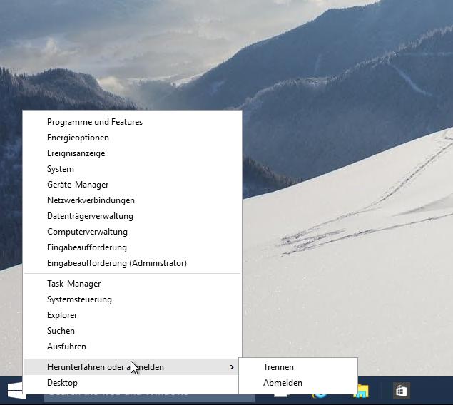 Windows 10 Herunterfahren RDP