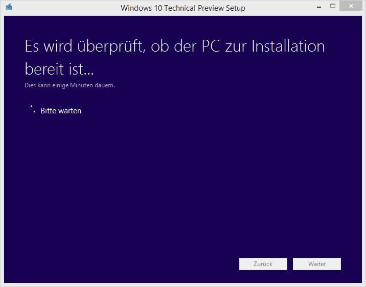 Windows 10 PC wird überprüft
