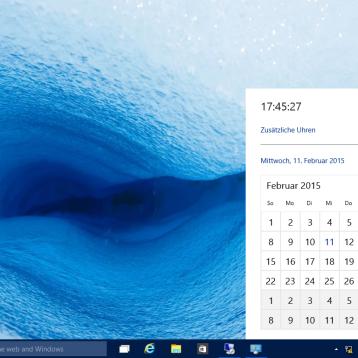 Neue Windows Uhr (Design) bei Windows 10 freischalten