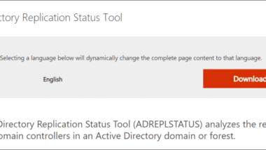 Download Active Directory Replication Status Tool (ADREPLSTATUS)
