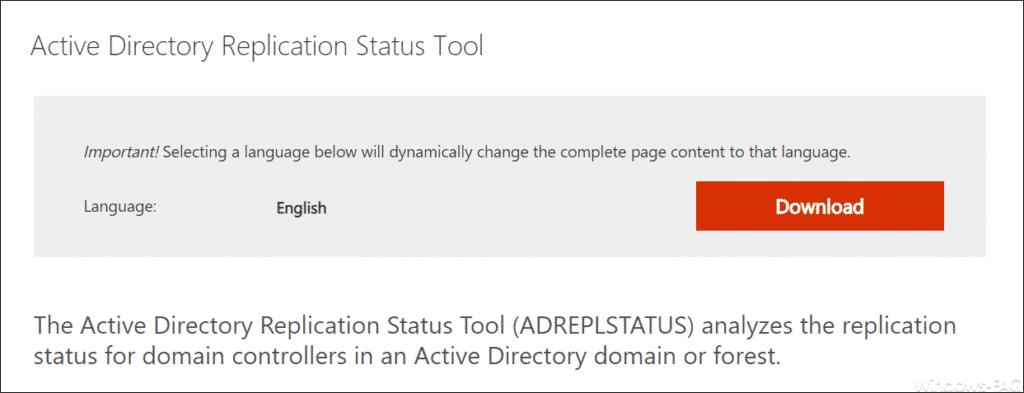 Download Active Directory Replication Status Tool