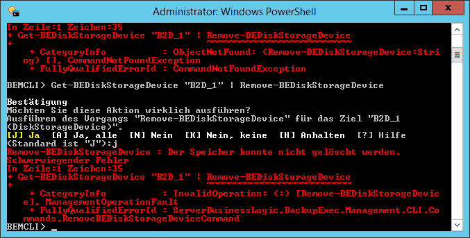 Backup Exec - Get-BEDiskStorageDevice