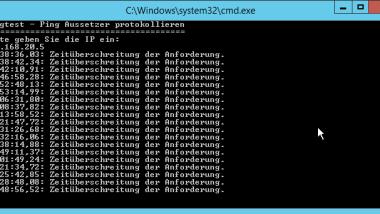 Netzwerkprobleme feststellen – Nur Ping Aussetzer protokollieren – Pingtest.bat