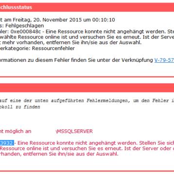 Symantec (Veritas) Backup Exec Error V-79-57344-33932