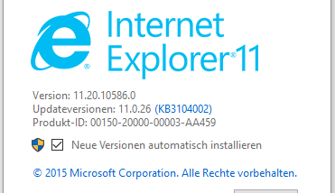 Internet Explorer (IE) deinstallieren