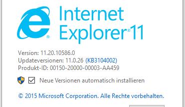 Internet Explorer (IE) deinstallieren