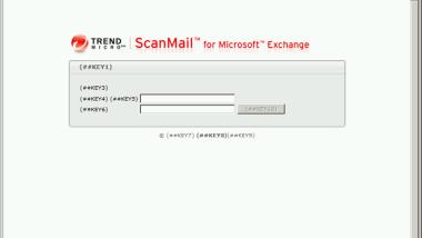 """""""(##KEY1) (##KEY2) (##KEY3)…"""" erscheint bei ScanMail for Exchange (SMEX) Login Seite oder Webconsole"""