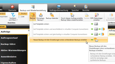 Backup Job bei Symantec (Veritas) Backup Exec kopieren