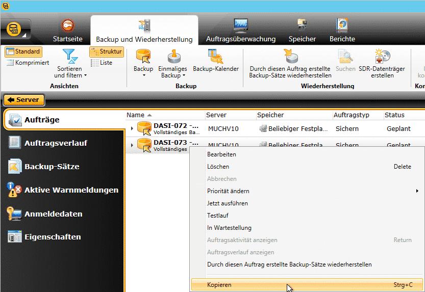 Veritas Backup Exec Kopieren