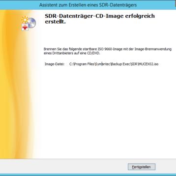 Backup Exec – SDR Datenträger erstellen – Teil 3