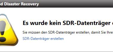 Backup Exec – SDR Datenträger erstellen – Teil 1