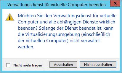 Hyper-V Verwaltungsdienst für virtuelle Computer