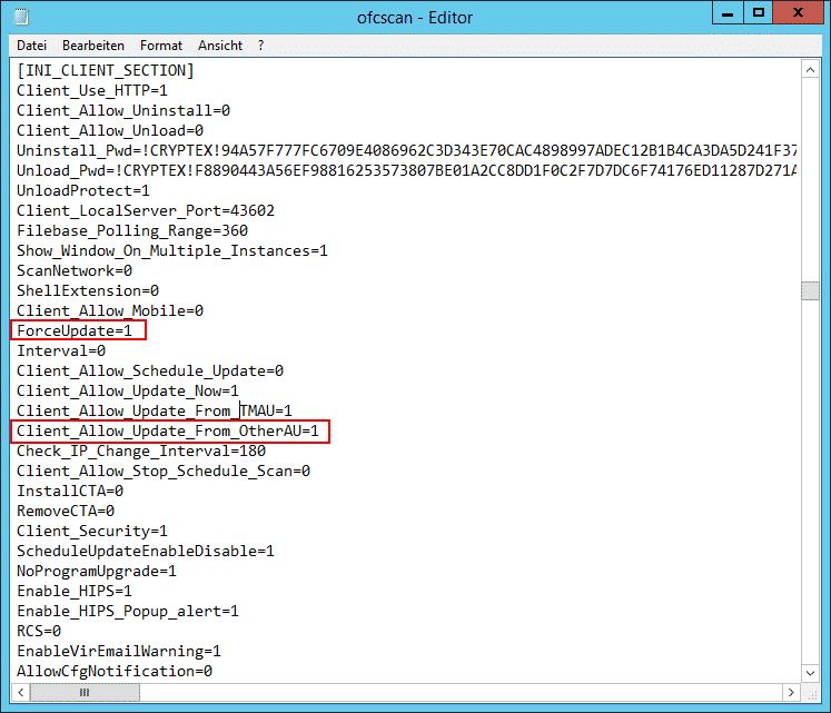 OfficeScan Parameter