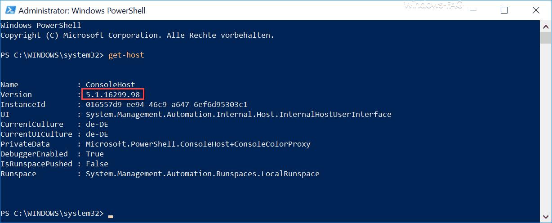 PowerShell 5.1.16299.98
