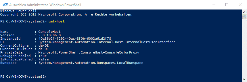 PowerShell Version 5.0
