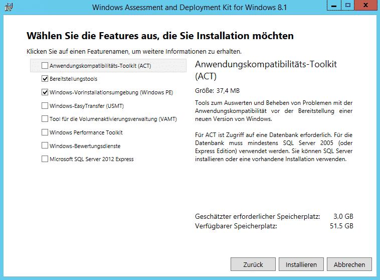 Windows ADK Features