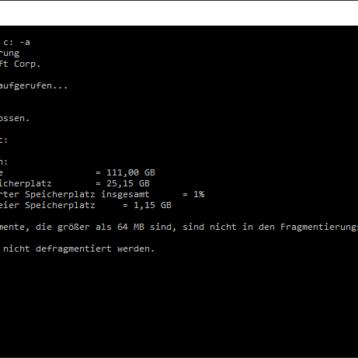 Defragmentierung (defrag.exe) Parameter