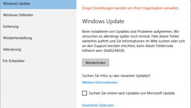 Windows Update Fehler 0x8024402f