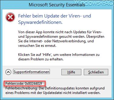 Fehlercode 0x8024402f