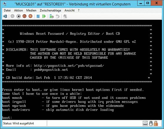 Windows Reset Password Registry Editor