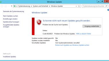 Windows Update Fehler 80072F8F und 80244021
