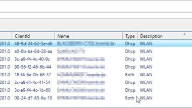 DHCP Reservierungen komfortabel und übersichtlich auflisten incl. Bemerkung