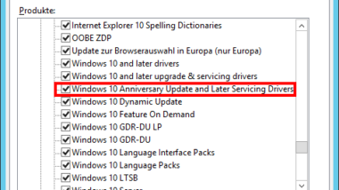 Windows 10 Anniversary Update 1607 über WSUS korrekt verteilen