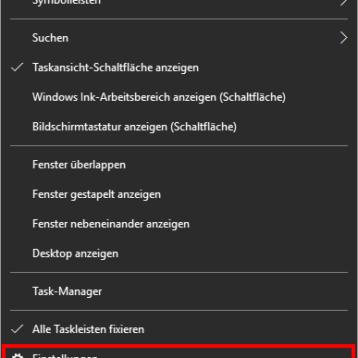 Taskleiste auf dem 2. Monitor abschalten bei Windows 10