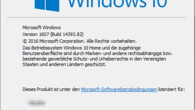 Fehlerbeseitigungs-Update KB3176934 für Anniversary Windows 10 Update verfügbar (Build 14393.82)